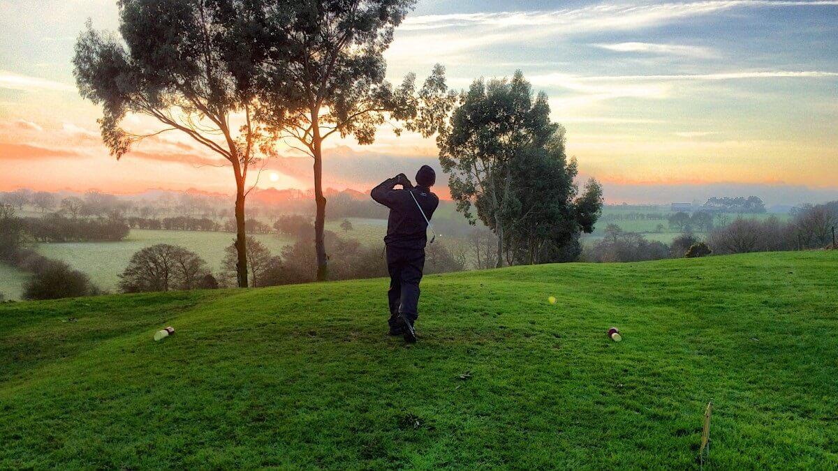 Golf Golfer Hit Sports Grass Green Trees Landscape 766932
